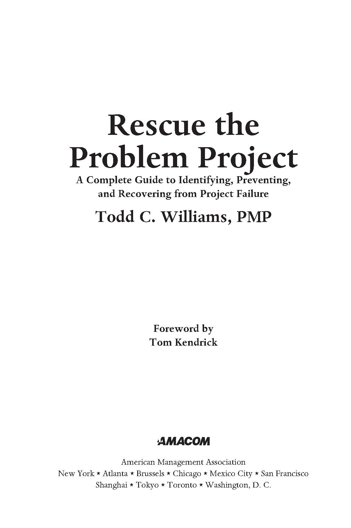 Rescue the Problem Project page iii